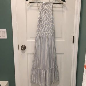 LOFT Beach Stripe Midi Dress